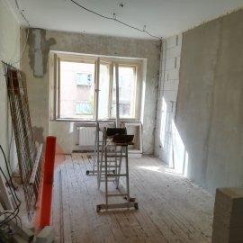 Kompletní rekonstrukce bytu Praha Nusle - obývák