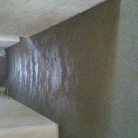 rekonstrukce RD - betonování chodby