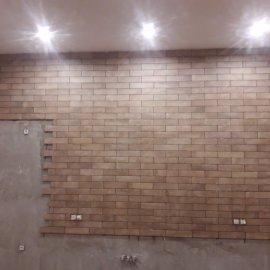rekonstrukce bytu v Praze 10 - obložení stěny