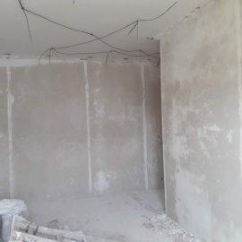 rekonstrukce bytu v Praze 10 - sádrové omítky