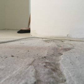 Rekonstrukce 3+kk Praha 10 - podklad podlahy