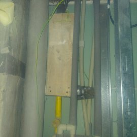 Rekonstrukce 3+kk Praha 10 - výdřeva pro ventilátor