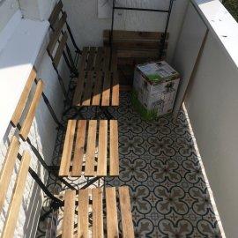 Rekonstrukce 3+kk Praha 10 - balkón