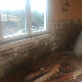 částečná rekonstrukce chaty