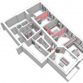 Architektonické práce Rybálkova - 3D