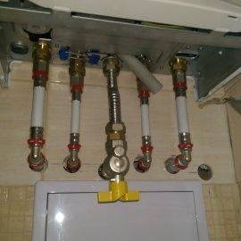 Praha 10 - rekonstrukce koupelny - připojení plynového kotle