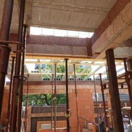 Hodonín - Výstavba polyfunkčního domu -  strop