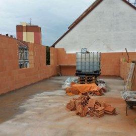 Hodonín - Výstavba polyfunkčního domu - hrubá stavba