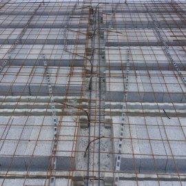 Hodonín - Výstavba polyfunkčního domu - před vybetonováním stropu