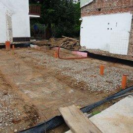 Hodonín - Výstavba polyfunkčního domu - základy