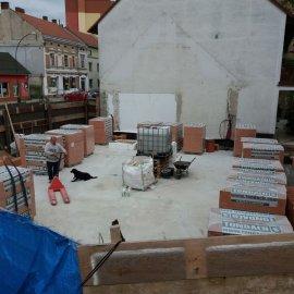 Hodonín - Výstavba polyfunkčního domu - přízemí