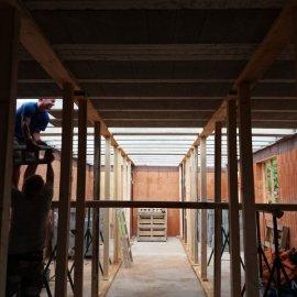 Hodonín - Výstavba polyfunkčního domu - realizace stropu