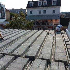 Hodonín - Výstavba polyfunkčního domu - panely