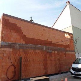 Hodonín - Výstavba polyfunkčního domu - dokončovací práce