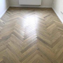 částečná rekonstrukce bytu - dřevěná dvouvrstvá podlaha