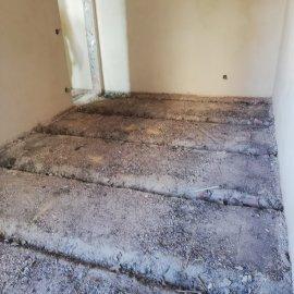 částečná rekonstrukce bytu - zásyp pod prkennou podlahu