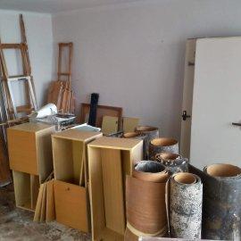 kompletní rekonstrukce bytu 3+1 - vyklízení