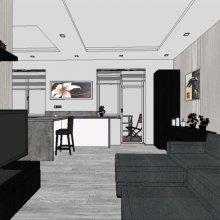 3D vizualizace - obývák