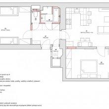 Architektonické práce Vítkova - návrh dispozice