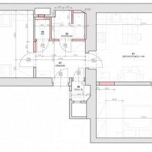 Architektonické práce Vítkova - stavební výkres