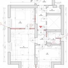 Horusická architektonický návrh - stavební výkres