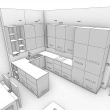 3D model druhé kuchyně