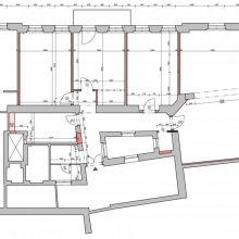 Architektonické práce Rybálkova - stavební výkres