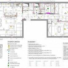 Praha 3 - dispoziční návrh bytu 3+kk