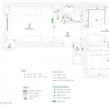 Praha 3 - dispoziční návrh bytu