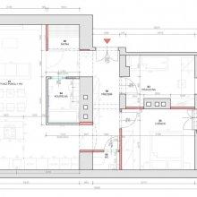 Praha 5 - dispoziční návrh bytu