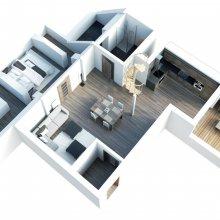 Praha Žižkov - návrh interiéru bytu