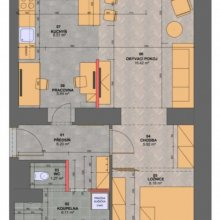 Praha 10 - návrh interieru bytu