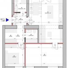 Kralupy n. Vl. - dispoziční návrh tří bytů